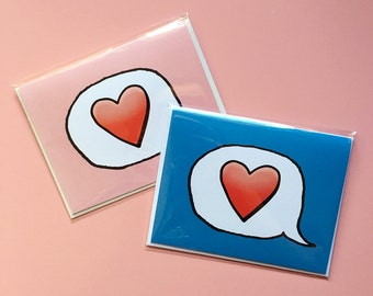 Emoji Cards! - Red Heart