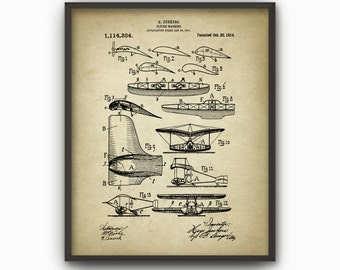 Junkers Flying Machine Patent Print - 1914 Aircraft Design - Vintage Aircraft Design - Plane Schematic - Flying Machine Invention