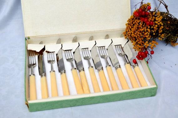vintage forks and knives cutlery 12pcs set kitchen serving