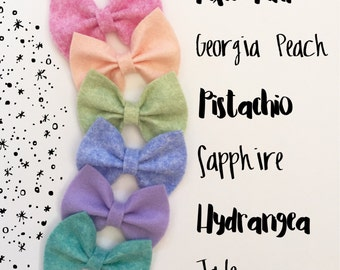 Pick 1 Felt Bows, bow headbands, felt bow clips, Hair bows, Hair clips, Bow clips, Bow headband.