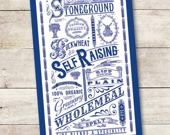 Say it With Flours Tea Towel