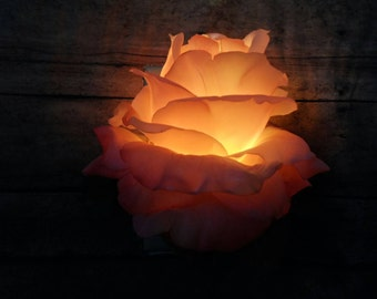 Auto Sensor LED Night Light Wall Flower (pink)