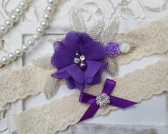 Ivory Lace Wedding Garter Set , Ivory Lace Garter Set, Toss Garter and Keepsake Garter, Bridesmaid Gift, Prom, Style 775