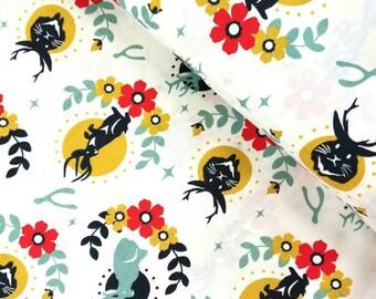 Tall Tales - Jackalope(Cream Background) - Birch Organic Fabrics