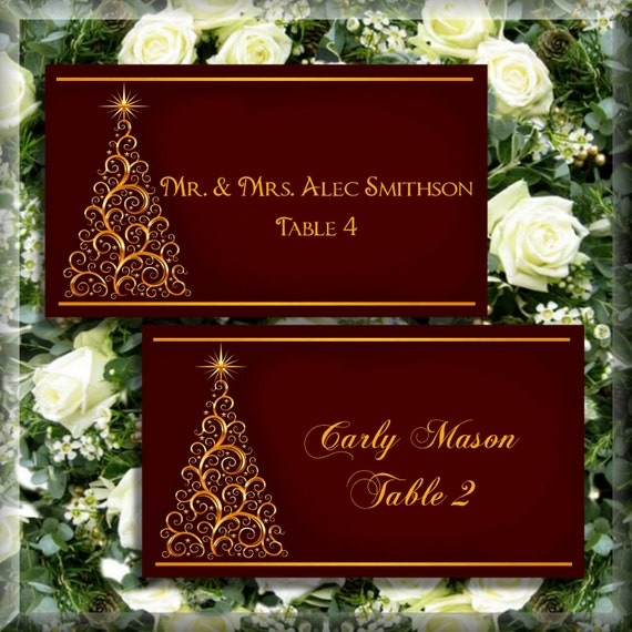 Items Similar To Golden Swirl Christmas Tree Flat Escort