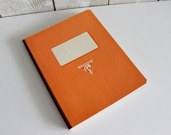 Vintage French notebook. Clairefontaine. Unused school notebook. Made in France. Pocket vintage notebook.  1950s // D258