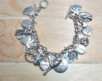 charm bracelet-make your own charm bracelet-silver charm bracelet-personalized charm bracelet-charm bracelets-silver charm bracelet