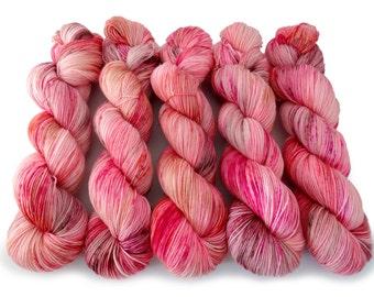 Sock Yarn Superwash Merino/Nylon 4ply Handdyed Yarn: CUP CAKE