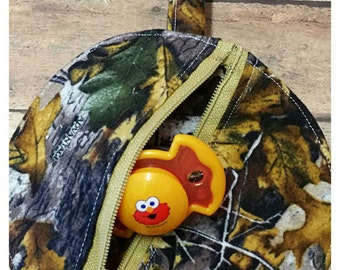 Camoflauge pacifier pouch, Binky bag, Unisex paci pouch, Babyshower gift idea, Nursery design idea, Expecting announcement gift