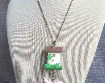 Bird House Necklace