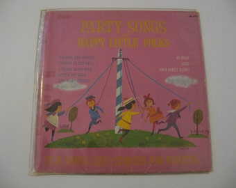 Price Reduced! - Party Songs For Happy Little Folks - Circa 1960's
