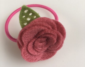 Felt rose Hair band