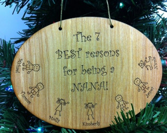Nana Christmas Ornament, The Best Reasons To Be A Nana Christmas Ornament