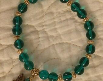 Emerald Stretchy Bracelet