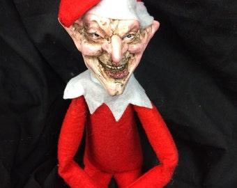 Creepy Elf doll- an alternative elf for your shelf