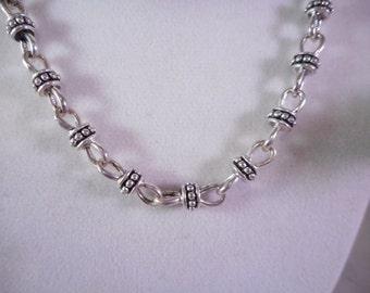 Premier Designs Chain Link Necklace and Bracelet Set ,Silver Necklace with Bracelet