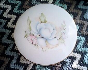 1970s SADLER JEWELLERY JAR England Fine Porcelain Feminine
