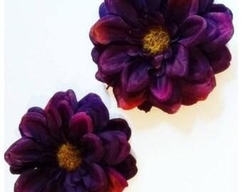 Hair flower - flower for hair in Eggplant/violet!