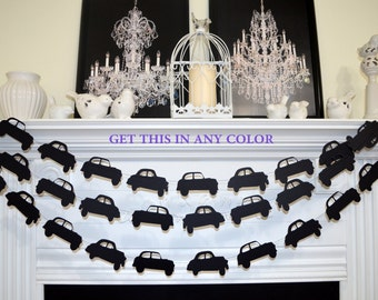 Antique cars garland, cars banner cars garland photo prop, birthday party decor, cars theme birthday, antique cars decorations