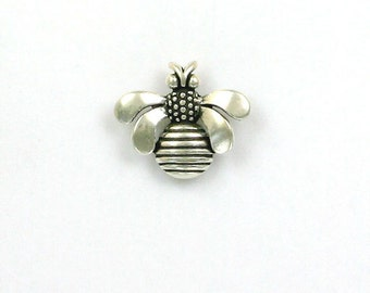 925 Sterling Silver Bee Pendant or Charm - IN21