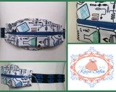 Science fabric insulin pump belt with skull elastic. Size 1 (age 2 - approximately age 9).