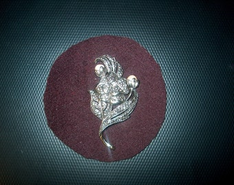 Vintage Kenneth J Lane Pin for Avon, Marcasites & Pearls