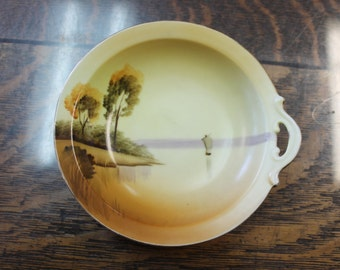 1920's Meito China bowl Handpainted in Japan
