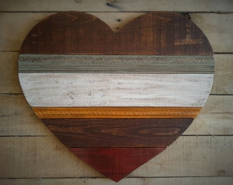 Rustic Heart Reclaimed Wood Large ~ HARVEST ~ Matthew 9 ~ Can be Personalized