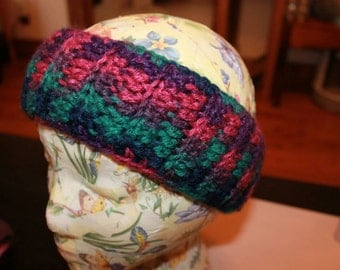 Crocheted Ear warmer double layer for added warmth