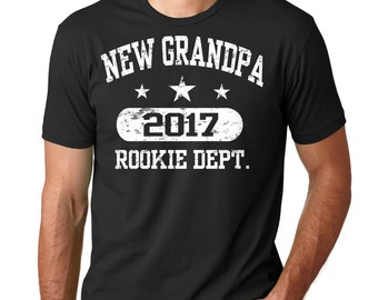New Grandpa 2017 T-Shirt Gift For Grandfather Tee Shirt