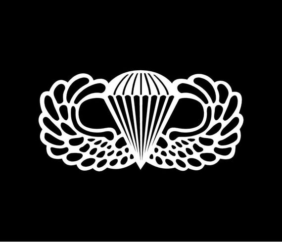 Jump wings, veterans decal, decal, paratrooper, parachute, tumbler cup, vinyl stickers, car stickers, truck decals, auto stickers
