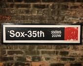 Sox Red Line Stop, Chicago Red Line, Comiskey Park, White Sox Baseball, Train Art, Street Art, Chicago White Sox, Red Line, White Sox