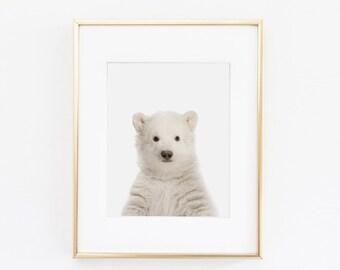 Polar Bear Nursery Art Print | Polar Bear Wall Art | Nursery Printable | Nursery Wall Art | Bear Art Print | Animal Nursery Art |