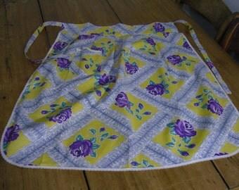 Vintage flowery adult's half apron