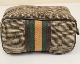 Vintage Toiletry Bag, Travel Case, Make-Up Bag, Toiletry Case, Cosmetic Bag