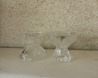 6 small cups duber crystal, vintage 1950/1960