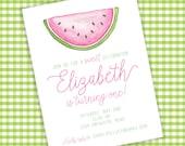 Watermelon Birthday Invitation