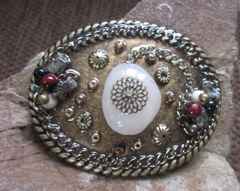 bohemian belt buckle embellished belt buckle Lavish Lucy Designs Country Western Cowgirl boho chic beaded Belt Buckle junk gypsies gypsy