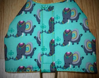 Xxsmall dog harness with elephants
