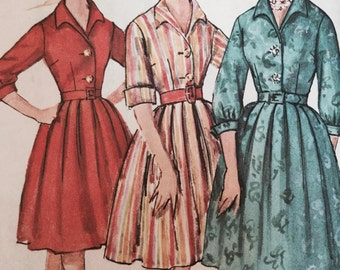 1950s Simplicity Sewing Pattern 4182, Rockability Dress, Misses' Size 12