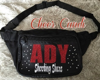 Customized Fanny Pack WITH Scattered Rhinestones