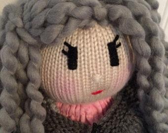 Handmade knit doll