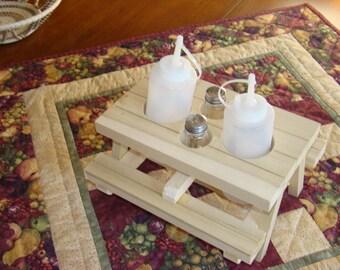 Mini picnic table for condiments
