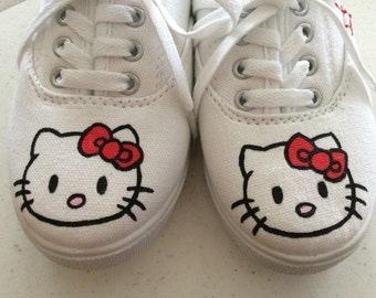 Hello Kitty Hand-Painted Shoes