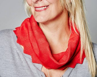 Red Cowl, Accessories, Ladies Fashion, Snood, Christmas Gift, Autumn Cowl, Winter Snood, Neck Warmer, Chevron Cowl, 37