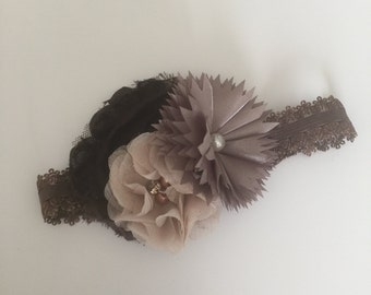 Baby Girl Headband/Brown