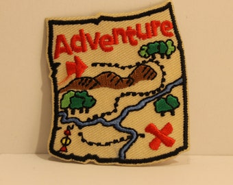 Adventure Patch - treasure map pirates travel journey peter pan lord of the rings dora the explorer