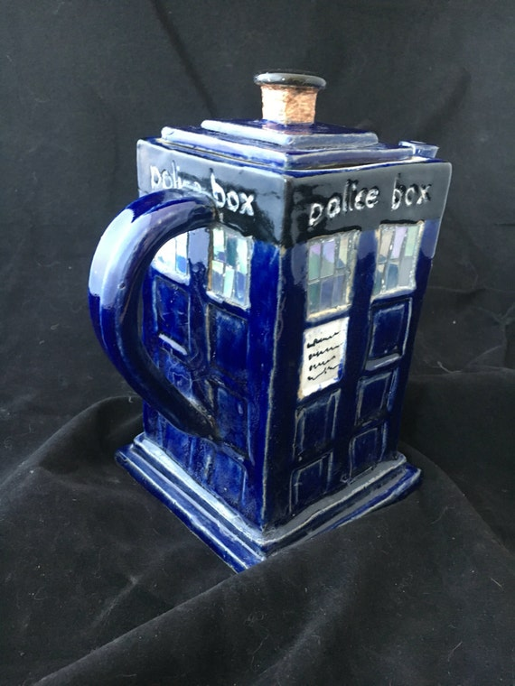 Tardis inspired tea pot