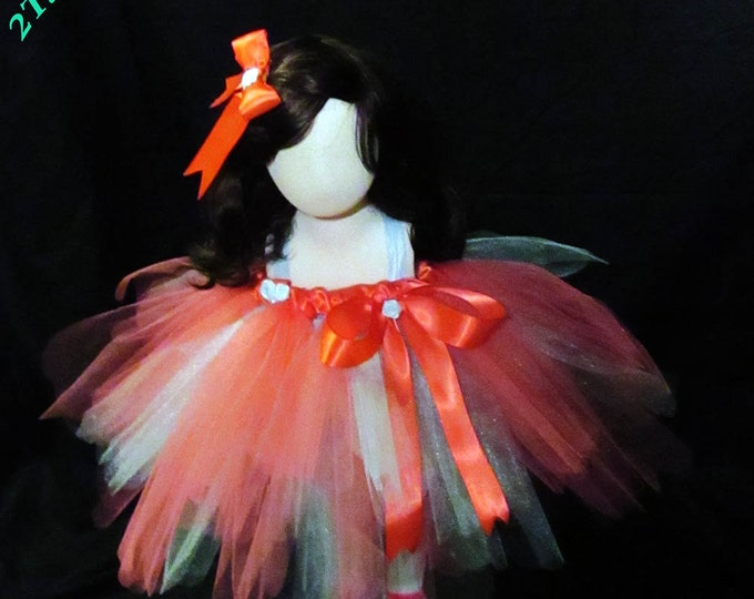 Coral and Blue Fashion Tutu