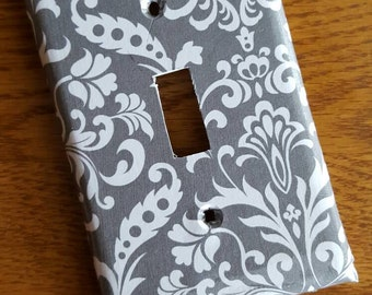 Grey and White Light Switch cover: more options available!